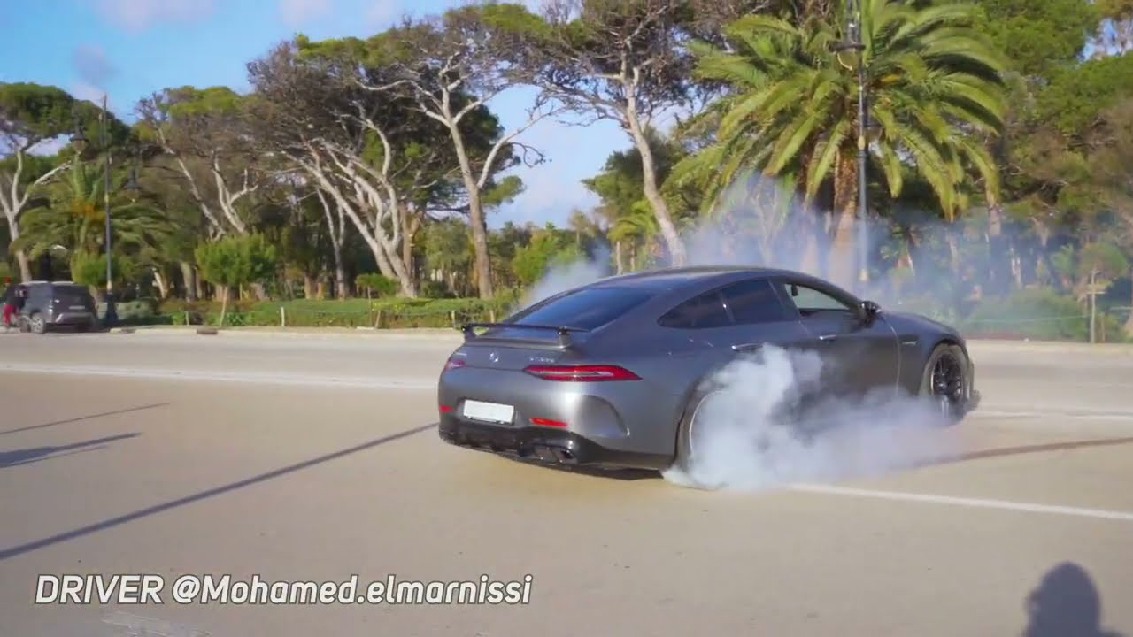 AMG GT 63s 360 DRIFT in Morocco