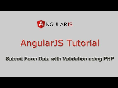 How to Submit Form with Validation in AngularJS with PHP | Webslesson
