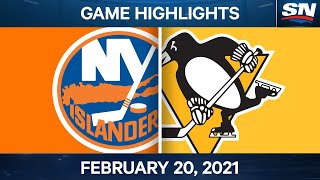 NHL Game Highlights| Islanders vs. Penguins - Feb. 20, 2021