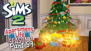 The Sims 2 | Apartment Life [S2] Part 59 - CHRISTMAS IS RUINED!! - w/Commentary