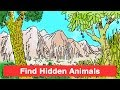Find Hidden Animals | 11 tricky puzzles to Stretch Your Mind