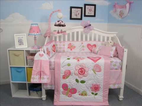Boutique Butterfly Kisses Baby Crib Nursery Bedding Set ; Baby Furniture Sets