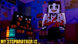 Minecraft my stepbrother is.... JEFF THE KILLER FROM CREEPY PASTA!!