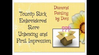 Diamond Painting Unboxing - Touoilp Stick Embroidered Store on AliExpress - Cartoon Dolphins