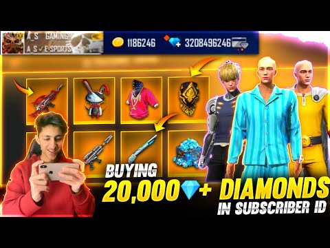 Buying 20,000 Diamonds & Emotes Dj Alok In Subscriber Id From 90% Off Mystery Shop- Garena Free Fire