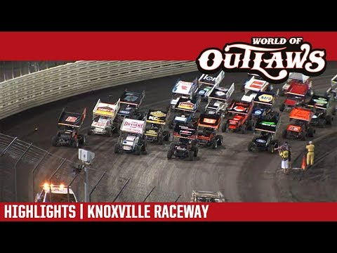 World of Outlaws Craftsman Sprint Cars Knoxville Raceway June 29, 2018 | HIGHLIGHTS