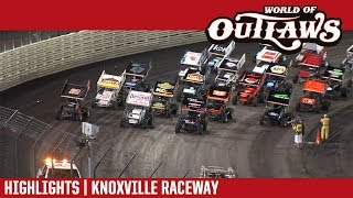 World of Outlaws Craftsman Sprint Cars Knoxville Raceway June 29, 2018   HIGHLIGHTS