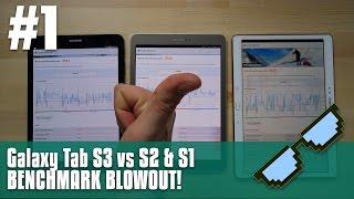Galaxy TAB S3 vs S2 & S1 - benchmark blowout! ANTUTU 3D Mark PC Mark!