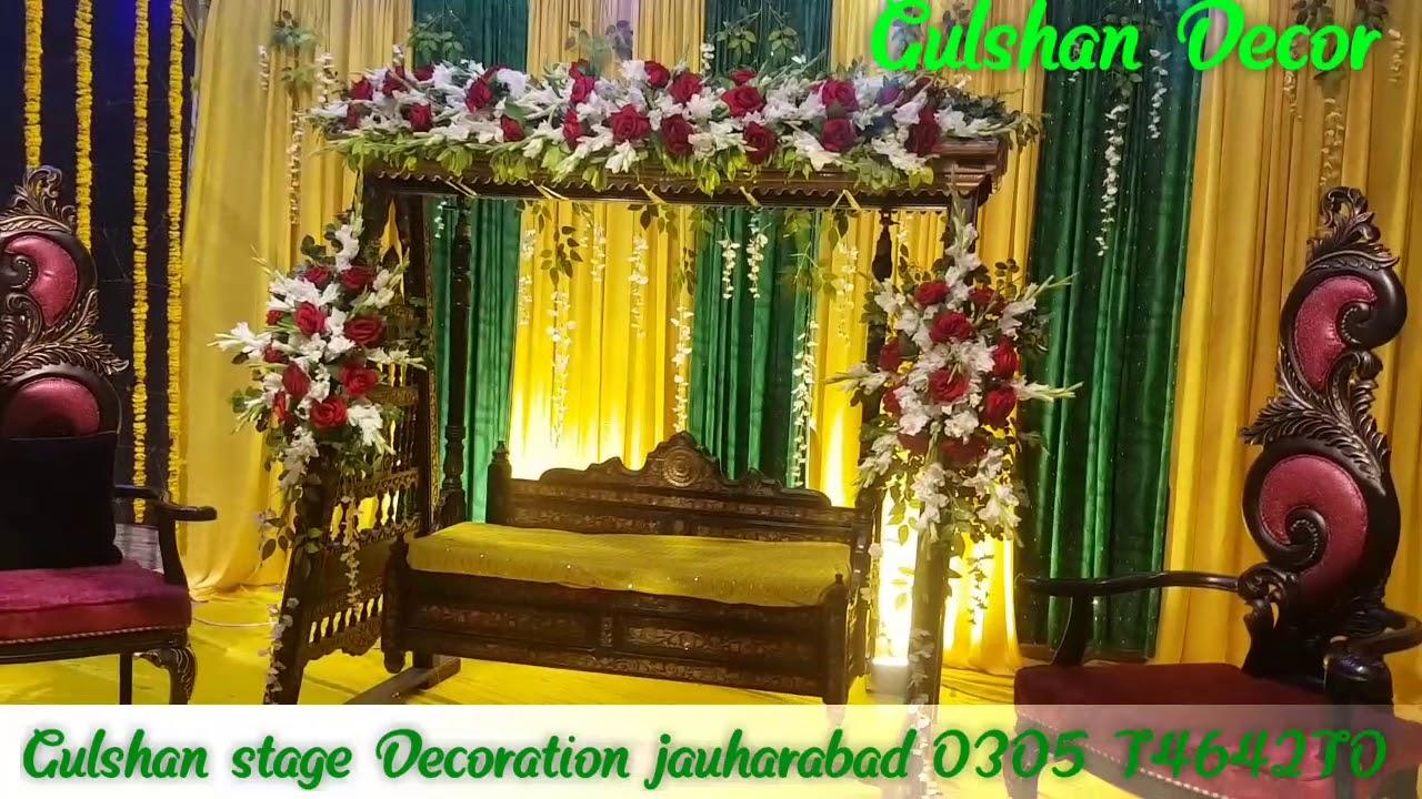 Mehndi Stage Decor Jula style , YouTube