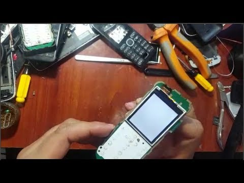 fix white display Nokia 1035