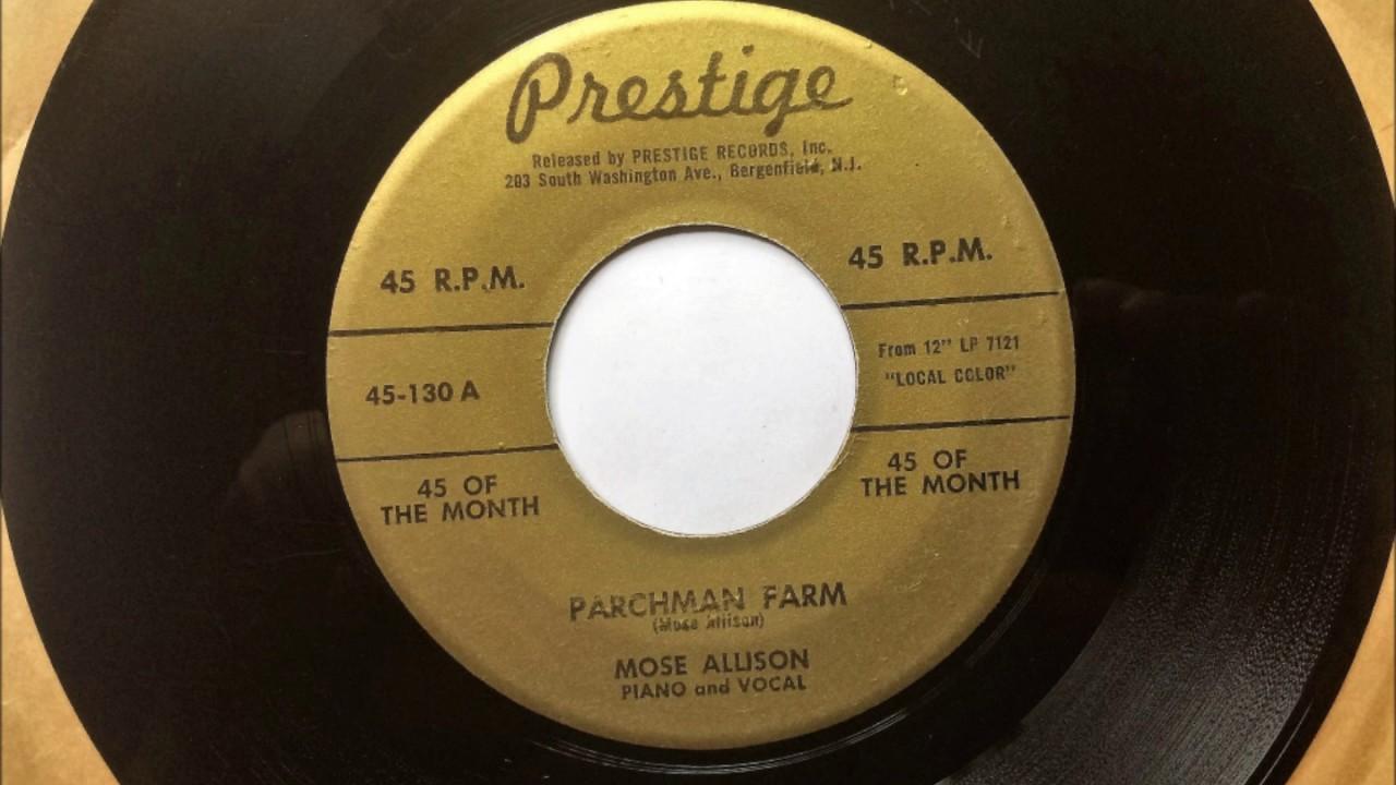 Parchman Farm Mose Allison 1958 Youtube