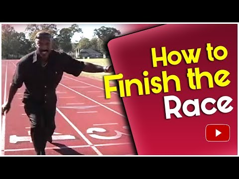 Track and Field How to Finish the Race Coach Harvey Glance