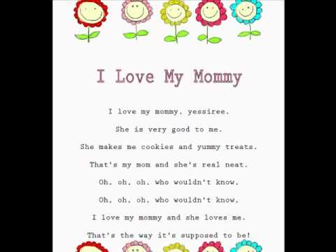 I Love My Mommy Kids Mothers Day Rhymes And Songschildrens Poemslearning To Read