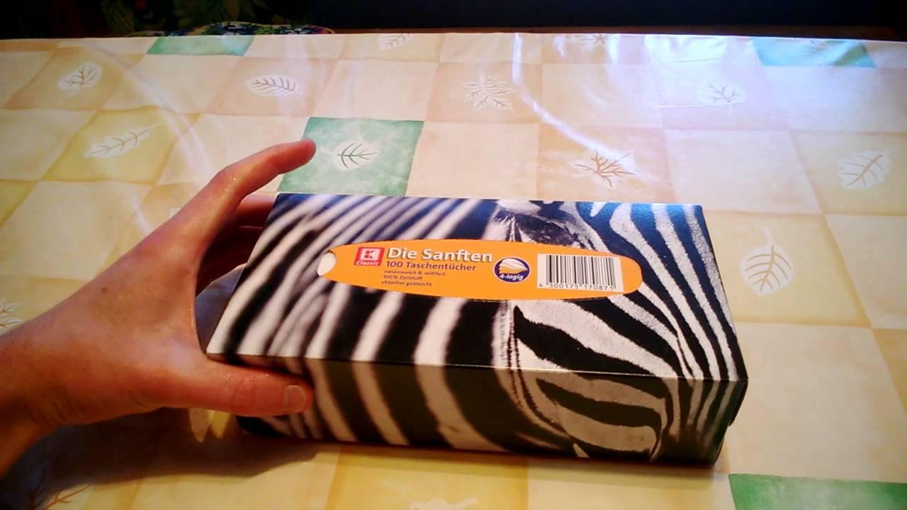 Unboxing Taschentücher-Box - YouTube