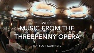 Weill: Dreigroschenoper für Klarinettenquartett