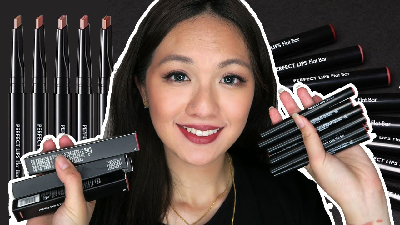 Tonymoly Perfect Lips Flat Bar Swatches Review