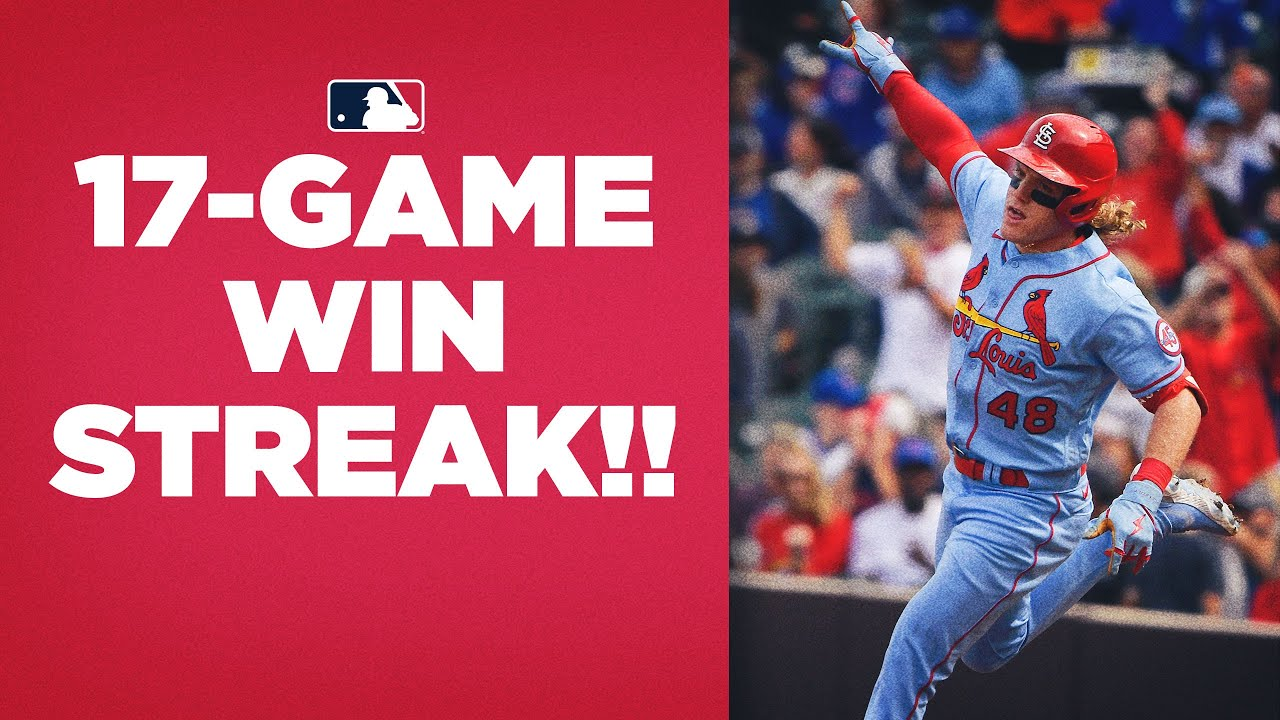Cardinals rip off one of MLB's GREATEST win streaks ever to get Postseason spot!! (17-game streak!!)