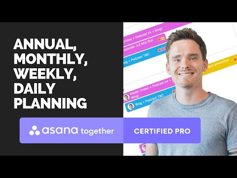Annual, monthly, weekly and daily planning in Asana