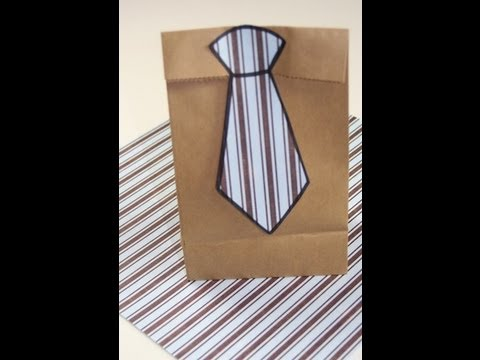 Diy Neck Tie Gift Bag Gift Ideas Youtube
