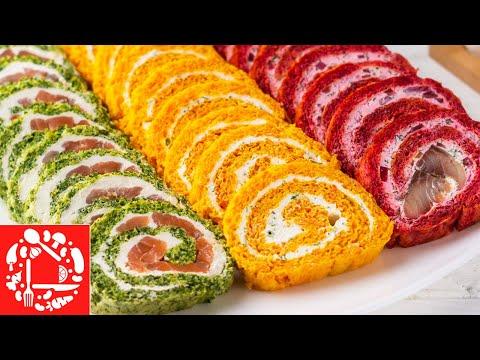 Шикарная Закуска! 3 закусочных рулета на Новогодний стол 2020