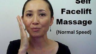 AntiAging Fat Reducing Tanaka Self Facelift Massage (Normal Speed)  Massage Monday #307