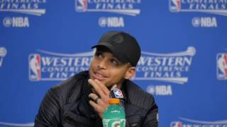 05-28-16 Thunder \ Warriors Game 6 Post Game with Thompson, Curry, Westbrook and Durant