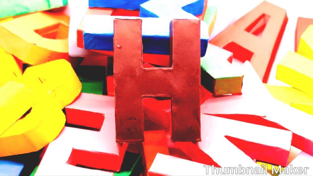3D origami alphabet diagram-lower case | Origami letter, 3d ... | 720x1280
