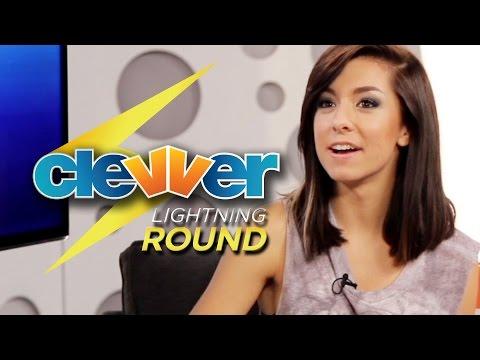 Christina Grimmie Lightning Round Questions - Celine Dion Impression!