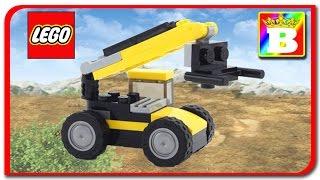 Lego Creator 31041 Construction Vehicles Model 3 of 3 Telehandler   Lego Speed Build Review Lego  Ne