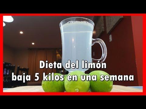 Dieta del limón baja 5 kilos en una semana