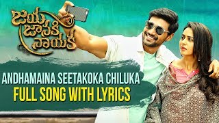 Andhamaina Seetakoka Chiluka Full Song With Lyrics || Bellamkonda Sreenivas || Rakul Preet || DSP