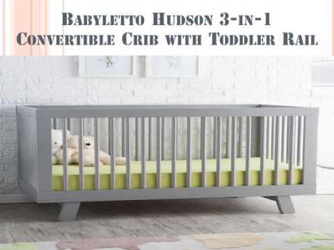 shop babyletto decor convertible crib rail all hudson wall in furniture with s toddler cribs