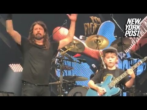 Boy who rocked with the Foo Fighters raises big bucks for sick friend