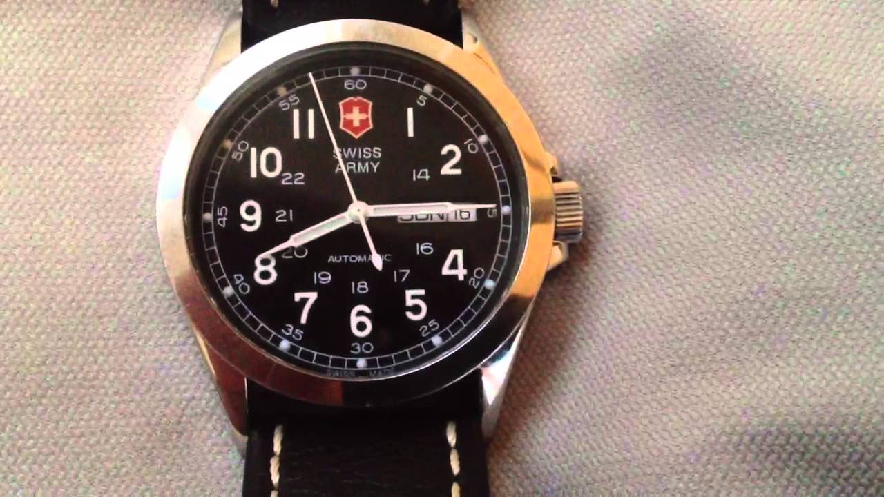 f8dff455 Victorinox Swiss Army Mechanical Watch #24695 1 Year Update - YouTube