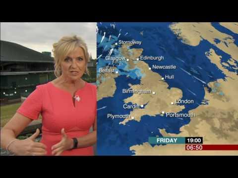 Carol Kirkwood By The Carp Ponds Wimbledon BBC Breakfast Weather 2017 07 14