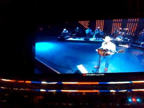 FIRST OPENING OF ROOF of Cowboys Stadium Arlington at George Strait Concert Inaugural Event