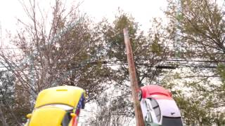Cars 2 Launching Play Set Lightning McQueen Crashes On Impact Lewis Hamilton Memo Rojas