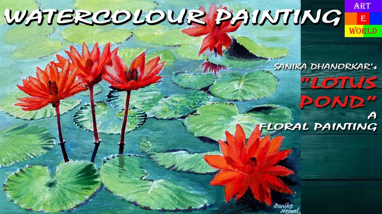 38 Lotus Flowers Gouache Painting Tutorial Lessons Demo