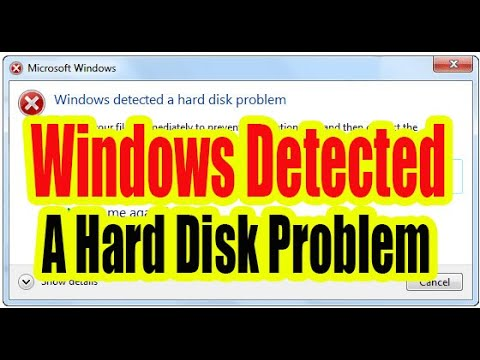Windows detected a hard disk problem. Fix Easily (Windows 10, 8.1, 7)