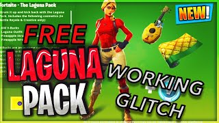 """*GLITCH* HOW TO GET """"LAGUNA STARTER PACK FOR FREE! IN FORTNITE BATTLE ROYALE! (NEW SKIN FOR FREE)"""