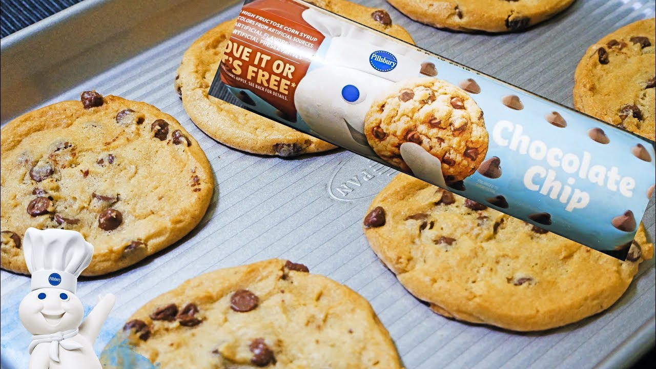Pillsbury Chocolate Chip Cookie Dough Youtube