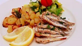 Сардины запеченные в духовке. Sardoncini gratinati al forno. Итальянская кухня.
