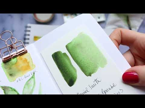 NEW Series! Watercolour Pigment Demo - Episode 1 | Daniel Smith Green Apatite Genuine