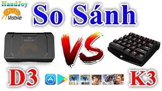 So Sánh Handjoy K3 Với Handjoy D3 Hỗ Trợ Chơi Game Mobile Bằng Bàn Phím Chuột Trên IOS Và Android