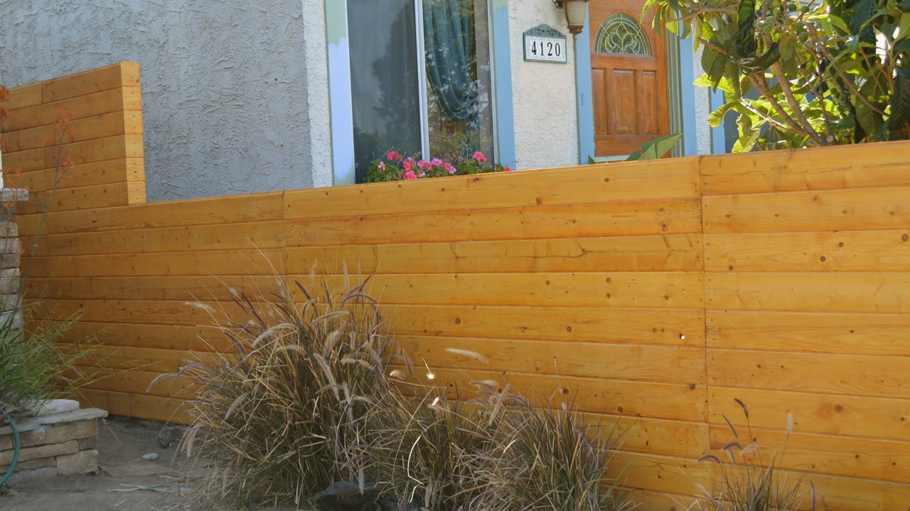 4 Foot Horizontal Wood Fence
