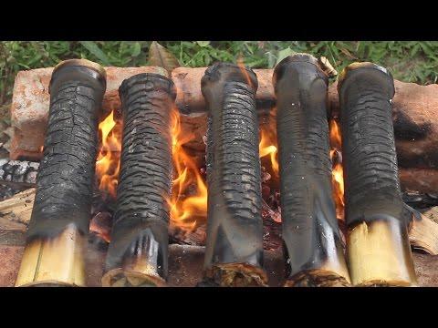 How To Make Bamboo Chicken Recipe Village Style || Bongulo Chicken || Street Food