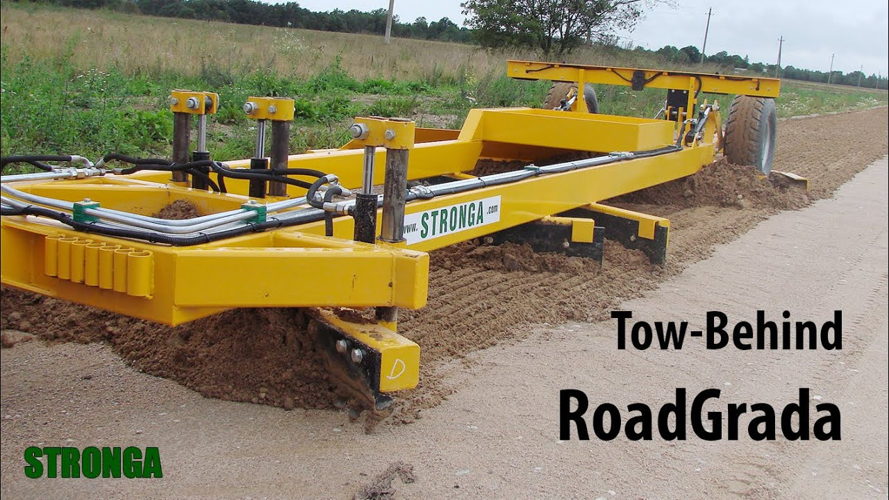 Stronga Road Grader SRG2400 - Tow behind road grader grading a loose  material road
