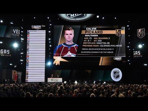 Las Vegas Golden Knights take Calvin Pickard first in NHL expansion draft