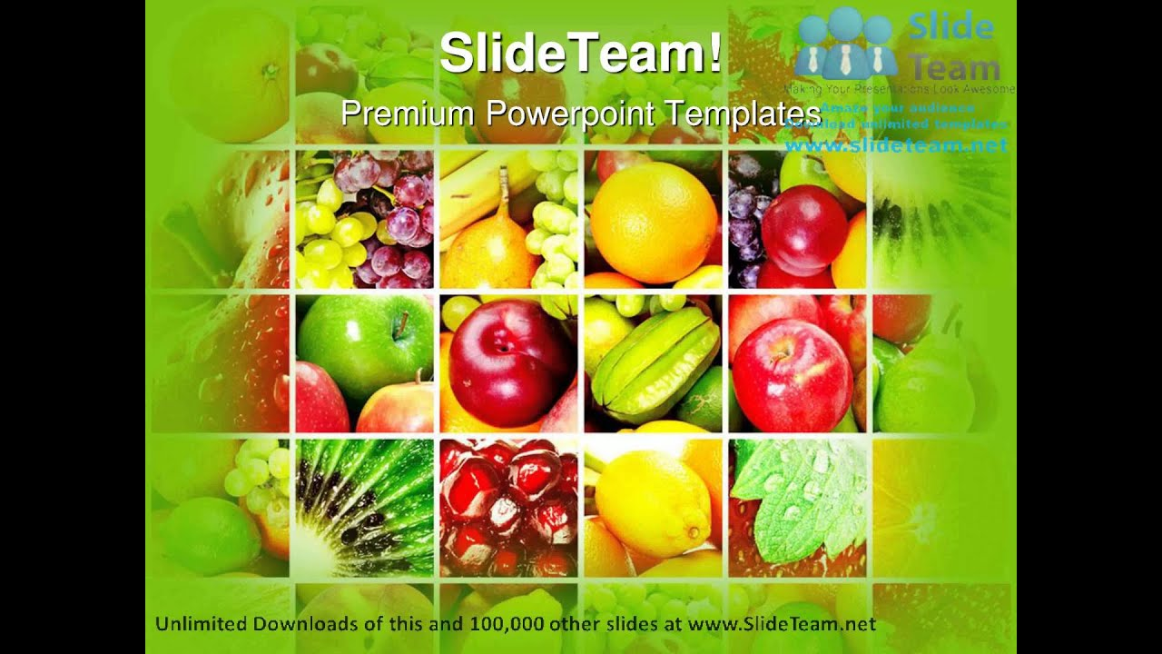 fresh and healthy fruits food powerpoint templates themes and, Modern powerpoint