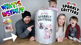 GIANT POOPSIE SPARKLY CRITTERS SODA POP CAN! WHAT'S INSIDE!?